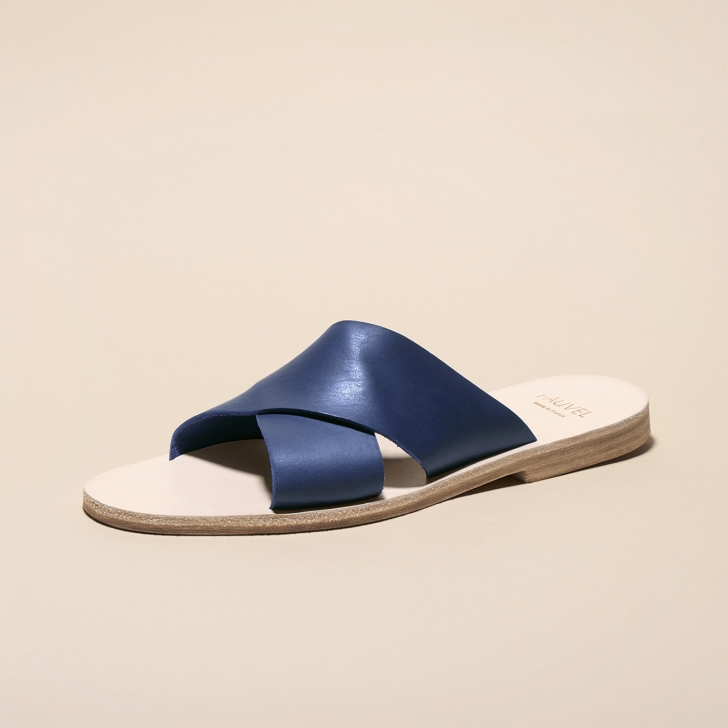 Flat cross sandal Atelier Fauvel Navy
