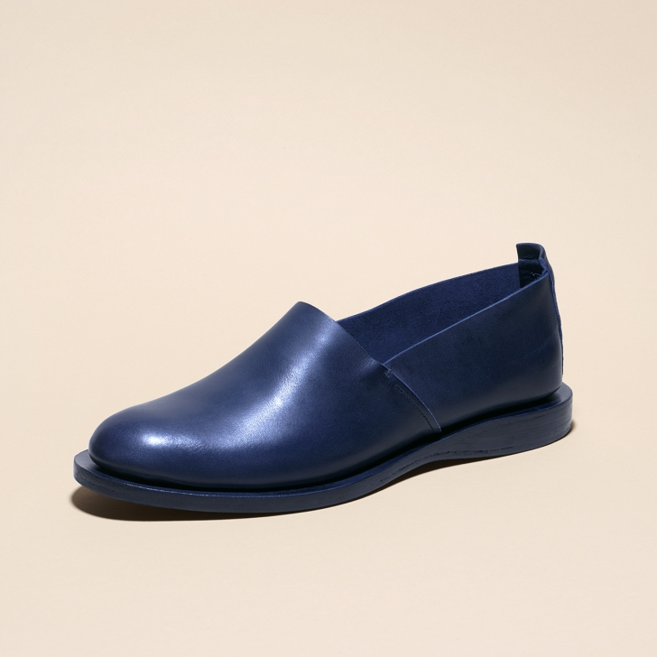 Flat Slippers Atelier Fauvel Navy